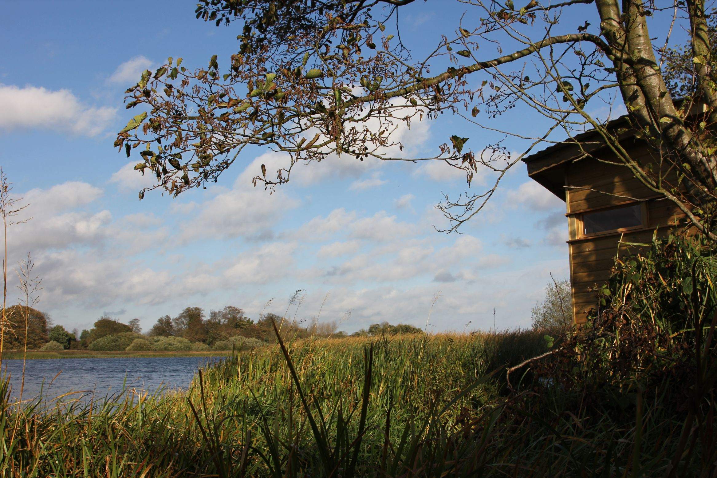 Hornsea Mere and bird hide. Courtesy of Jess Charlton